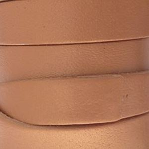 Picture of Bronze Flat Leather 12mm<br />Sold per 5-yard spool