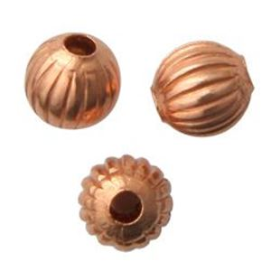 Picture of Copper Fluted Bead 3mm<br />Unit Of 100 Beads