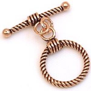Picture of Copper Twist Loop 15mm Bar 23mm<br />3 Sets