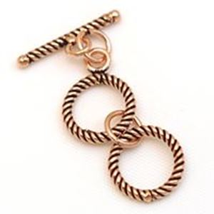 Picture of Copper Twist Loop 12mm Bar 18mm<br />4 Sets