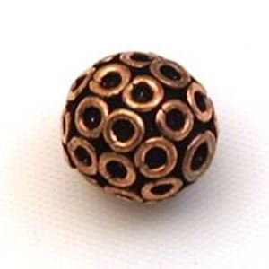Picture of Copper Ring Beads 11mm 1.4mm Hole<br />4 Beads