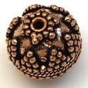 Picture of Copper Bead 17mm 1.9mm Hole