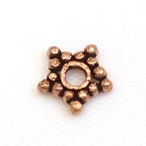 Picture of Copper Star Spacer Beads 7mm<br />30 Beads