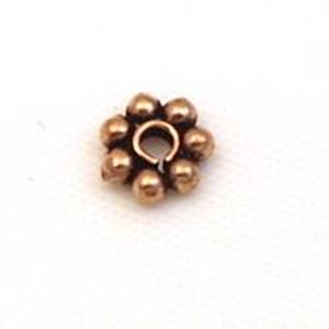 Picture of Copper Daisy Spacer Beads 6mm<br />30 Beads