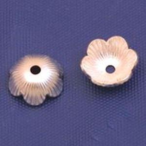 Picture of Sterling Silver Fan Bead Cap 6mm