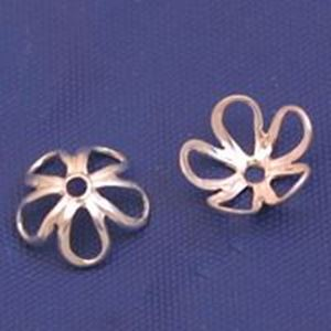 Picture of Sterling Silver Open Bead Cap 8mm