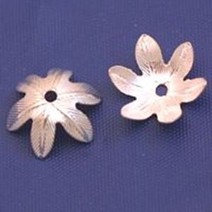 Picture of Sterling Silver Leaf 6 Point Bead Cap 10mm