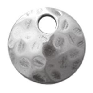 Picture of Sterling Silver Round Link Hammered With 1 Hole 9mm<br />B&B ~ Benbassat