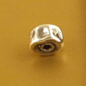 Picture of Sterling Silver Flat Bead 9mm, I.D. 2mm, JBB Finding