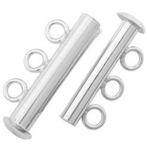 Picture of Sterling Silver Tube Clasp, 3 Strands
