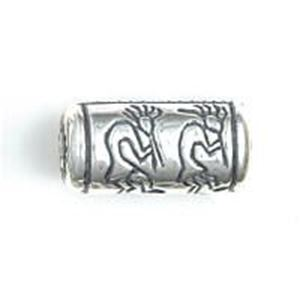 Picture of Sterling Silver Kokopelli Cylinder Bead Large 21x10mm, JBB ~        Finding