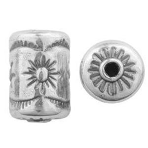 Picture of Sterling Silver Sun Cylinder Bead Medium 15x11mm<br />JBB ~ Finding