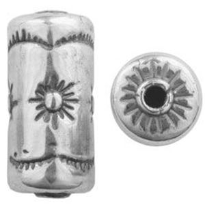 Picture of Sterling Silver Sun Cylinder Bead Large 21x10mm<br />JBB ~        Finding