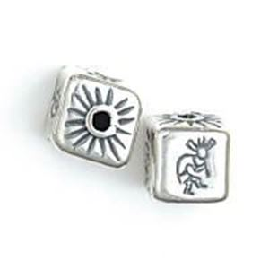 Picture of Sterling Silver Kokopelli Square Bead Small 11x11mm<br />JBB ~        Finding
