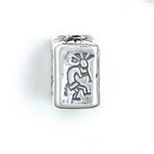 Picture of Sterling Silver Kokopelli Square Bead Medium 16x10mm<br />JBB ~        Finding