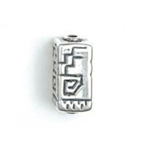 Picture of Sterling Silver Spiral Step Square Bead Medium 18x8mm<br />JBB ~        Finding