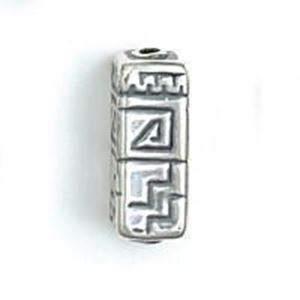 Picture of Sterling Silver Spiral Step Square Bead Large 21x8mm<br />JBB ~        Finding