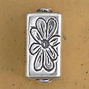Picture of Sterling Silver Flower Square Bead Large 22x11mm<br />JBB ~        Finding