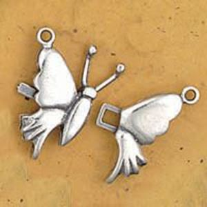 Picture of Sterling Silver Plain Butterfly Clasp Small. JBB Finding