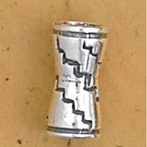 Picture of Sterling Silver Bone Bead 12mm, I.D. 3.25mm, JBB Finding