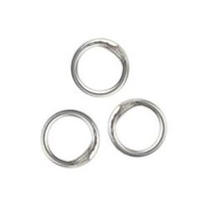 "Picture of Sterling Silver Round Closed Jump Ring, Outer Diameter, 6mm, ~ 0.032""(20ga.)<br />10 Jump ~ Rings"