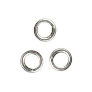 "Picture of Sterling Silver Round Closed Jump Ring, Outer Diameter 5mm/.040"", 18 ~        Gauge Wire, Sold per pkg of 10"