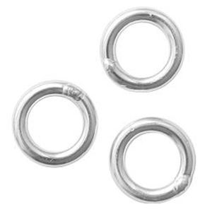 """Picture of Sterling Silver Round Closed Jump Ring, Outer Diameter 4mm, 0.030""""/21 ~        Gauge Wire, Sold per pkg of 10"""