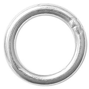 """Picture of Sterling Silver Round Closed Jump Ring, Outer Diameter 5mm, 0.030""""/21 ~ Gauge Wire, Sold per pkg of 10"""