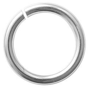 "Picture of Sterling Silver Round Jump Ring 8mm, 0.040"", 18 Gauge Wire, Sold per ~        pkg of 10"