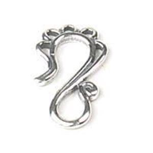 Picture of Sterling Silver Fancy Loop Hook 21x12mm. JBB Finding