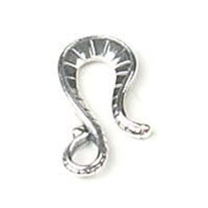 Picture of Sterling Silver Fancy Lines Hook 19x10mm. JBB Finding