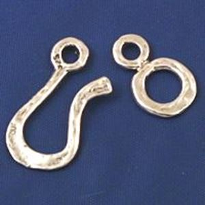 Picture of Sterling Silver Heavy Duty Hook & Eye Hammered
