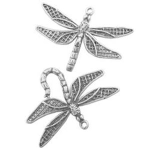 Picture of Sterling Silver Hook & Eye Dragonfly Large. JBB Finding