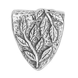 Picture of Sterling Silver Extra Large Leaf Slide Bail 20.5x17.5mm JBB ~        Finding