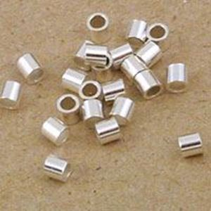 Picture of Crimp Tube Sterling Silver 2x2mm 1oz<br />Approximately 235 Crimp ~        Tubes