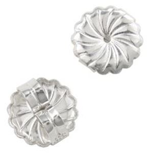 Picture of Sterling Silver Large Rosette Ear Clutch .038 Inch
