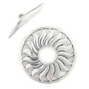 Picture of Sterling Silver Toggle Sun 21mm Loop 19mm Bar<br />B&B ~        Benbassat