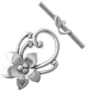 Picture of Sterling Silver Toggle Flower 12mm Loop 18mm Bar<br />JBB ~        Finding
