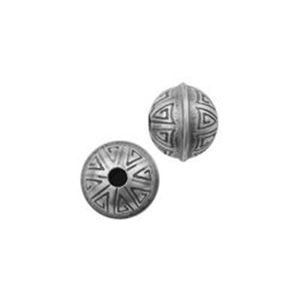 Picture of Sterling Silver Stamped Seam Bead 6mm