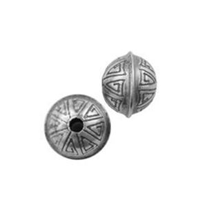Picture of Sterling Silver Stamped Seam Bead 7mm