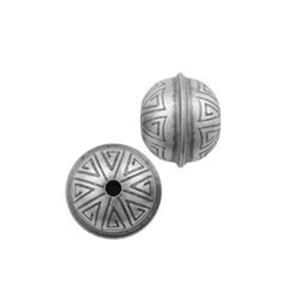 Picture of Sterling Silver Stamped Seam Bead 8mm