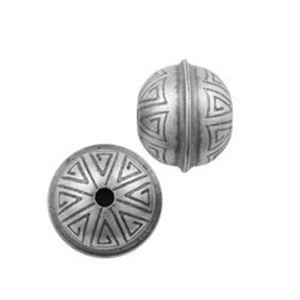 Picture of Sterling Silver Stamped Seam Bead 9mm