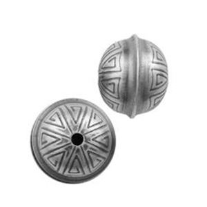 Picture of Sterling Silver Stamped Seam Bead 10mm
