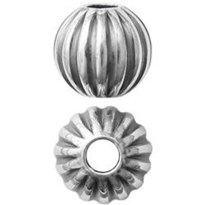 Picture of Sterling Silver Oxidized Corrugated Round Beads 6mm 2mm Hole<br />10 ~        Beads