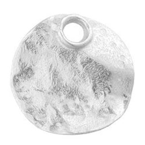 Picture of Sterling Silver Disc Round Hammered 21.5mm