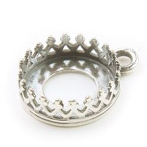 Picture of Silver Plated Pewter Pendant Setting 10mm. JBB Finding