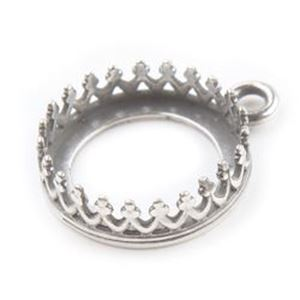 Picture of Silver Plated Pewter Pendant Setting 12mm. JBB Finding