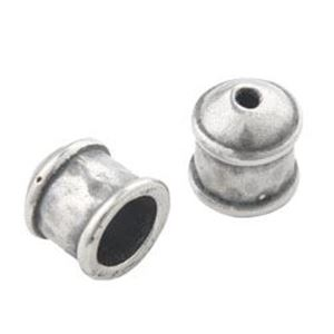 Picture of Silver Plated Pewter End Cap 7x8mm Inner Diameter 5mm. JBB ~        Finding