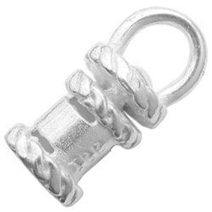 Picture of Silver Plated Crimp Revolving End Cap 3mm JBB Finding
