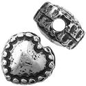 Picture of Silver Plated Oxidized Heart Beads 6mm 1.2mm Hole<br />10 ~        Beads